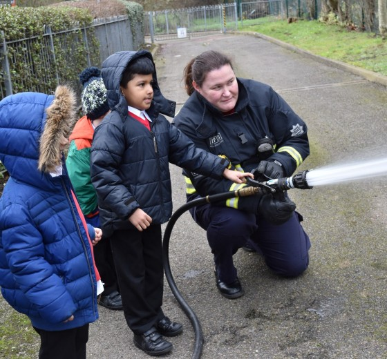 Read more - Local fire fighters visit Berkeley