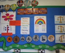maths working wall image