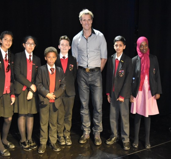 Year 6 receive Awards for their hard work and dedication from James Cracknell at London�s Dominion Theatre.