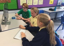 Young sports media team works with local primary to complete essex school games assignment