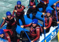 Boswells students enjoy white water rafting experience at lee valley white water centre