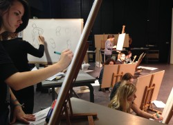 Art students experience day of life drawing with professional model