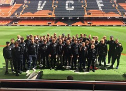 Boswells School students visit CF Valencia for 2019 Football Tour