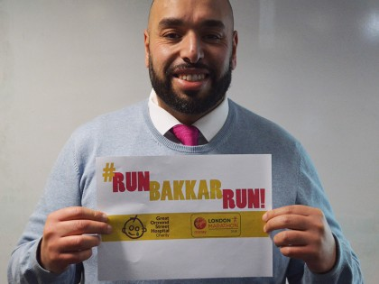 Mr Bakkar is running the London Marathon