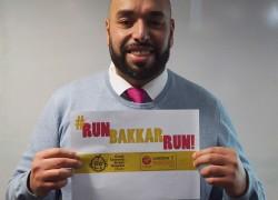 Mr Bakkar is running the London Marathon