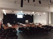 old hall set up for quiz