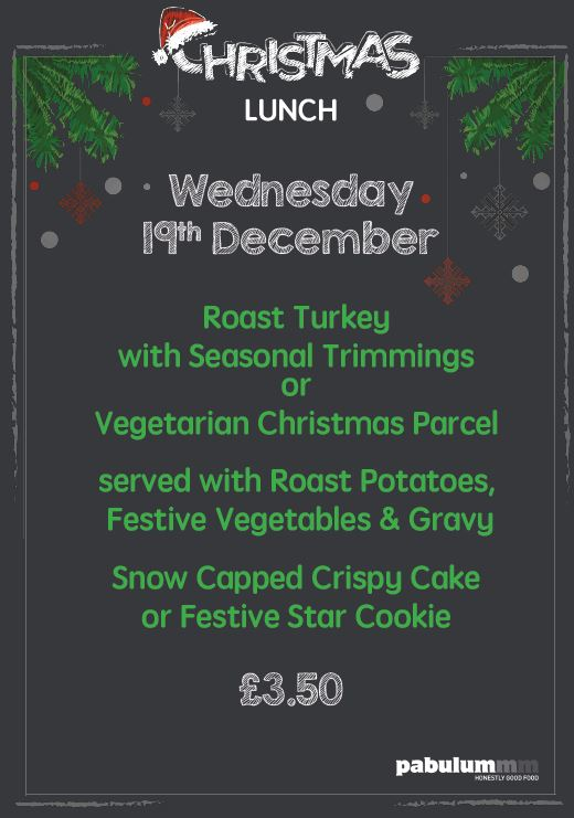 Christmas Meal promo note
