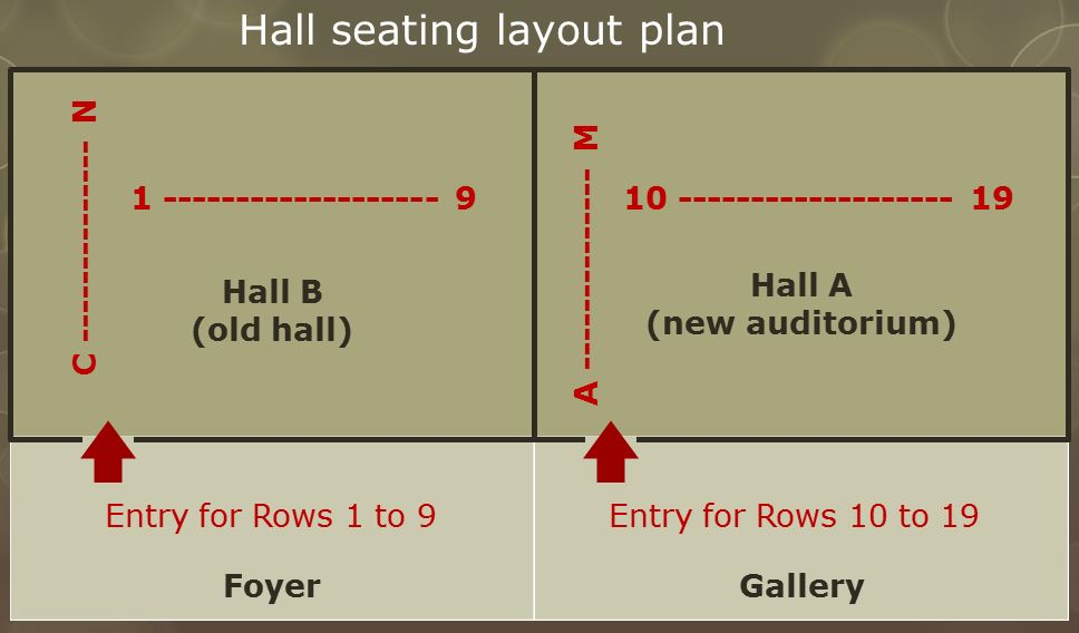 Hall seating layout