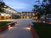 School Courtyard evening