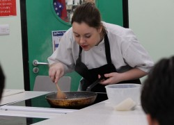 Ex-catering Student Demonstrates Skills