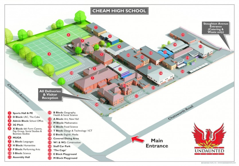 Cheam High School 3D