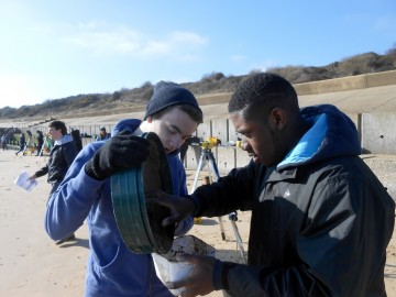 AS Geography students collect coastal data during exciting fieldtrip to Ipswich