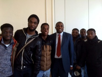 Prospective candidate for London Mayor, David Lammy MP, hosts talk at Christ the King College
