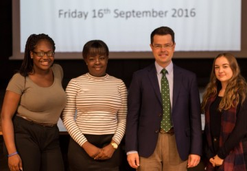College launches its speaker programme with ministerial visit