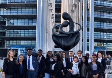 Language students taking part in Euroscola and visiting the European Parliament in Strasbourg (France)