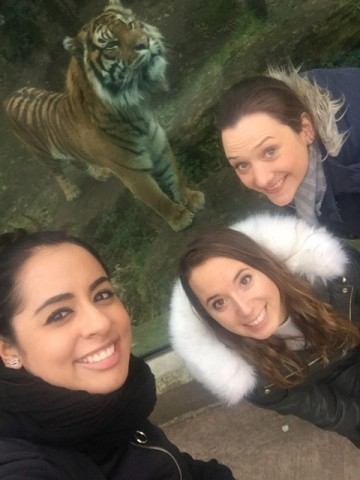 Psychology students visit London Zoo