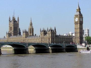 Students examine British law making at the Palace of Westminster