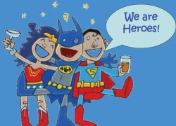 Superheroes save the day!