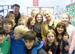 Year 6 drama workshop with Charlie Brooks