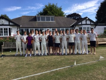 Cricket teams at OCS summer reunion, July 2015