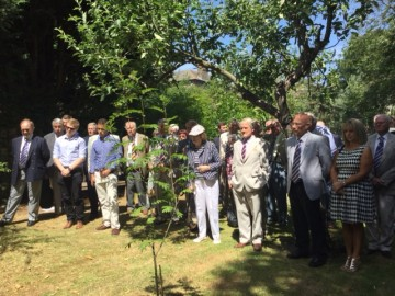 Poppy planting ceremony for OCs who died during WWI at the CRGS Garden of Remembrance, July 2015