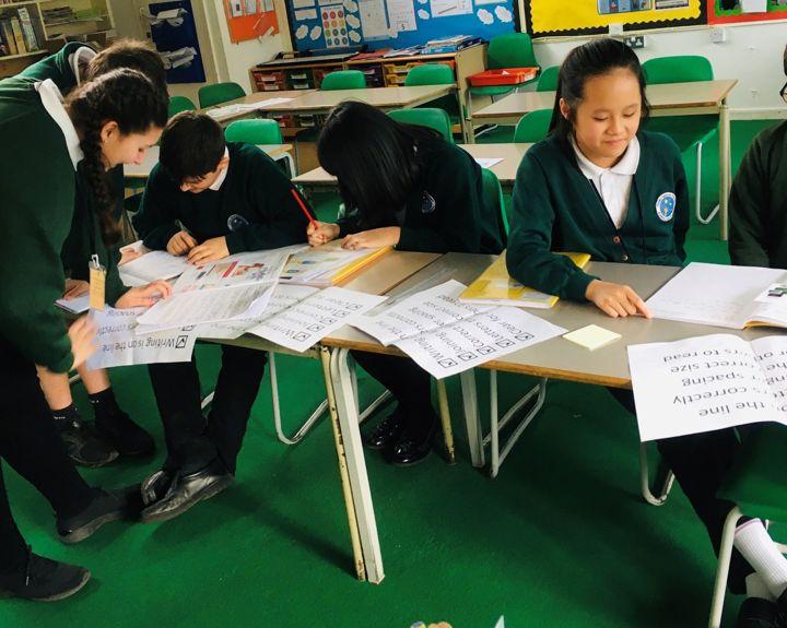 Pupils judge peers' handwriting