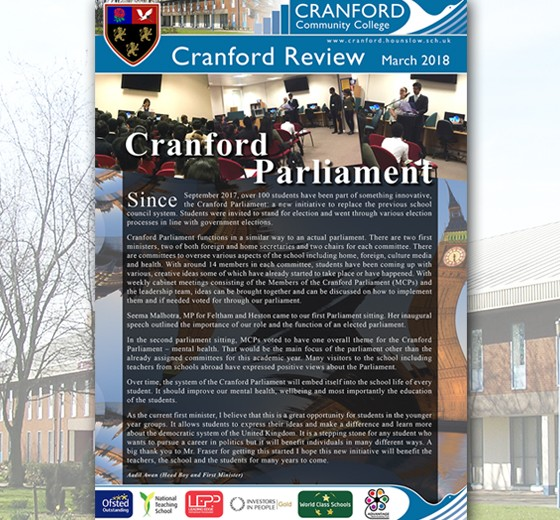 Cranford Review March 2018 edition