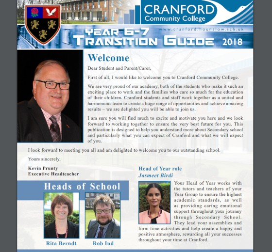 Year 6-7 Transition Guide 2018 (booklet)