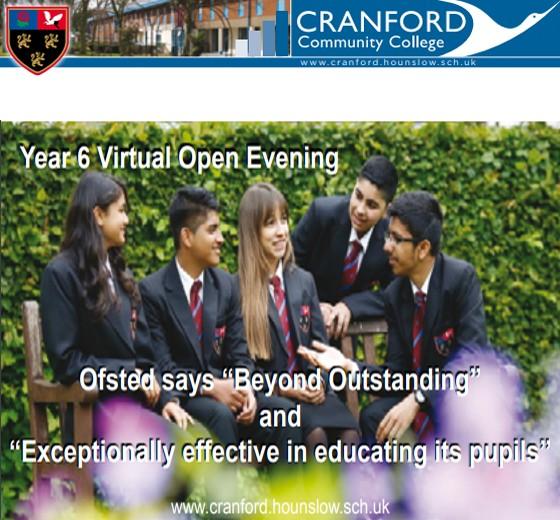 Cranford Virtual Open Evening: Click Here
