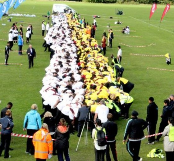 Read more - Guinness World Record holders for the largest rugby scrum!