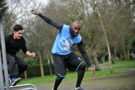 Cranford students learn the tricks of urban sport Parkour