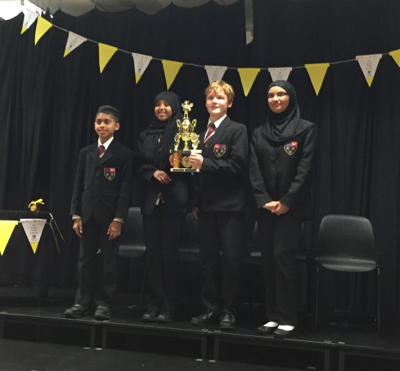 Cranford's Students win Hounslow Secondary Schools Spelling Bee 2016