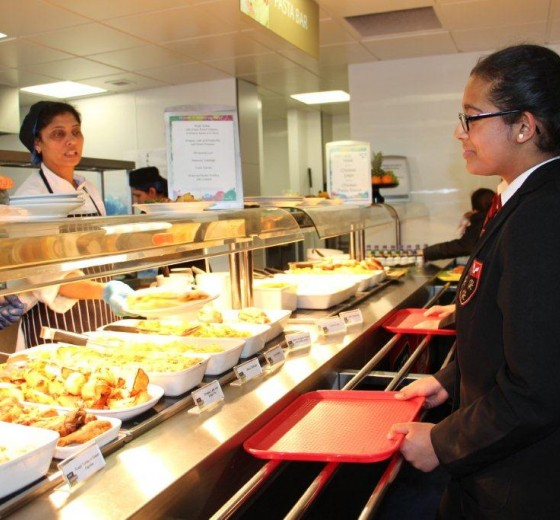 dining hall serving image