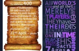 Celebrating 400 years of Shakespeare - HW