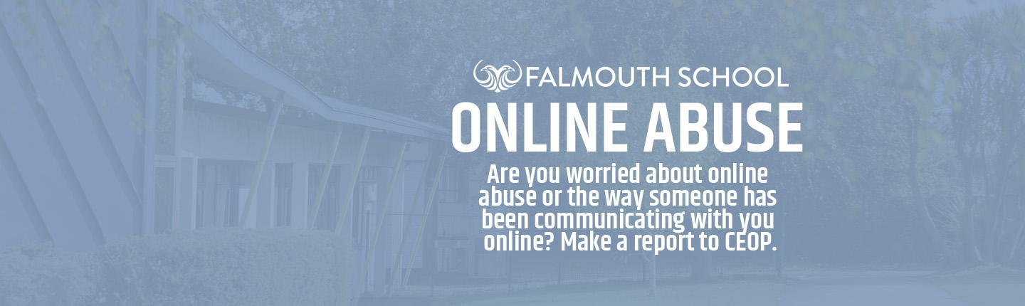 Online abuse homepage copy