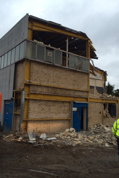Demolition of Sports Hall - December 15