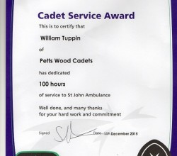 100 Hours of Dedicated Service Honoured