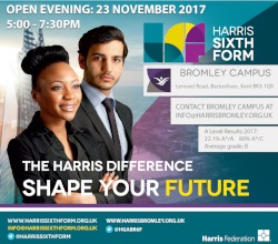Join us for our 6Form Open Evening - 23 November 5-7.30pm