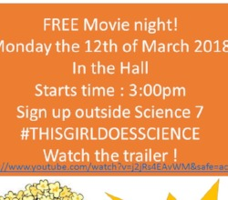 Movie Night - Monday 12th March 2018