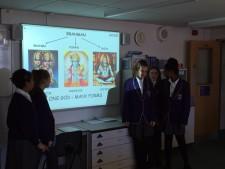 Y7 presenting Hindu Gods in RE