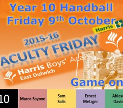 Year 10 Compete in Handball Faculty Friday - 9 October