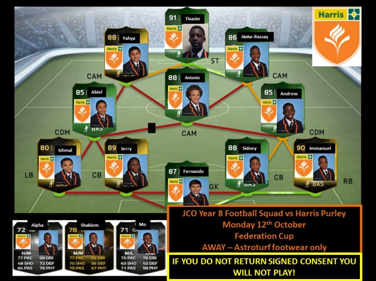 Year 8 squad
