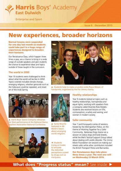 HBAED newsletter 6 cover