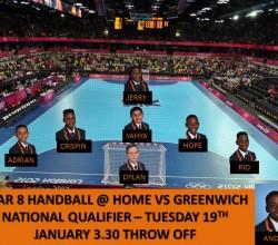 Year 8 Handball v Greenwich - 19 Jan - Teamsheet