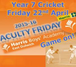 Year 7 Cricket - Friday 22 April