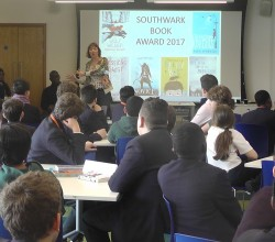 Boys Help to Relaunch Southwark Book Award