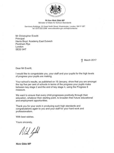 Nick Gibb letter
