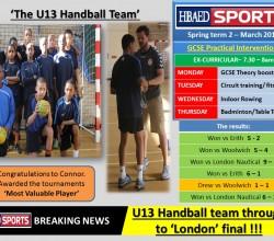 Sports Bulletin - Thursday 5 March