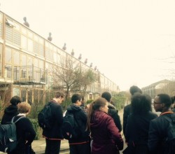 Year 10 geographers visit sustainable housing project