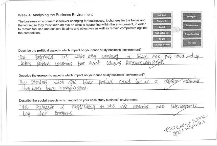 Homework - business 12